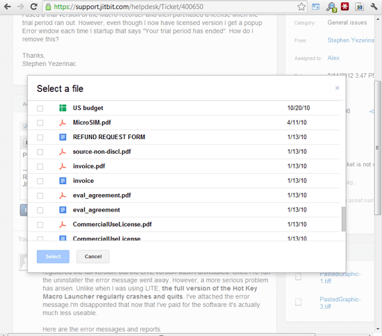 Helpdesk Google Drive Integration