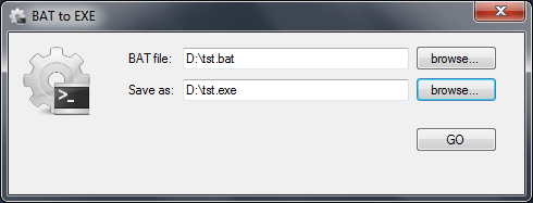 how to make bat file to exe