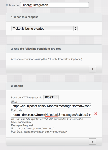 Hipchat integration | Jitbit HelpDesk ticketing system