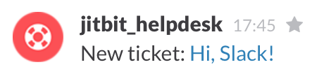 Slack helpdesk notification